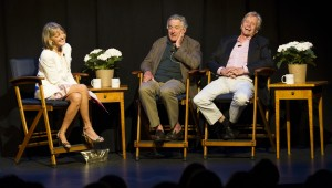 Rita Braver interviews Robert De Niro and Michael Douglas at The Nantucket Dreamland's Evening with the Stars Gala 2013. Photo credit: Lisa Frey / Nantucket Event Media