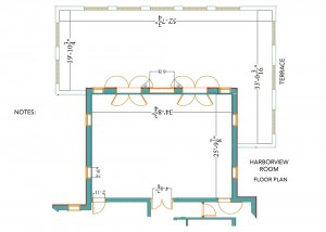 Harborview Room Floor Plan